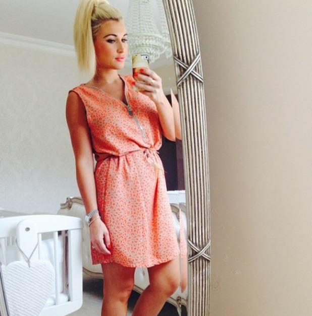 Billie Faiers posts wardrobe selfie, 24 July 2014.