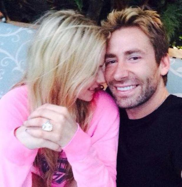 Chad Kroeger gives Avril Lavigne poses with 17 carat anniversary ring - 31 July 2014