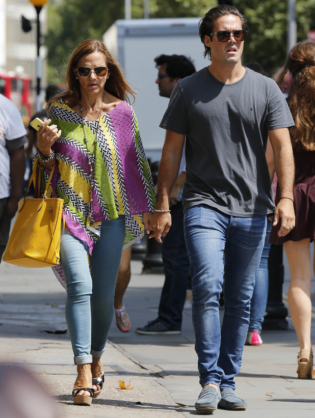 Spencer Matthews out and about in London holding hands with his mother, Britain - 22 Jul 2014