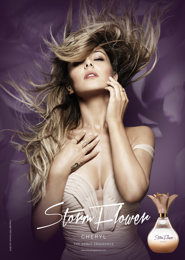 Cheryl Cole's promotional image for her new fragrance Storm Flower - 30 July 2014