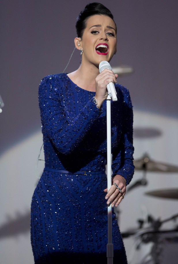 Katy Perry performs in front of the Obamas at 'A Celebration Of Special Olympics And A Unified Generation' Event, Washington DC, America - 31 Jul 2014