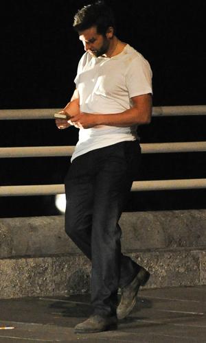 Bradley Cooper on the filmset of new movie 'Adam Jones' on location at Waterloo Bridge, 31 July 2014