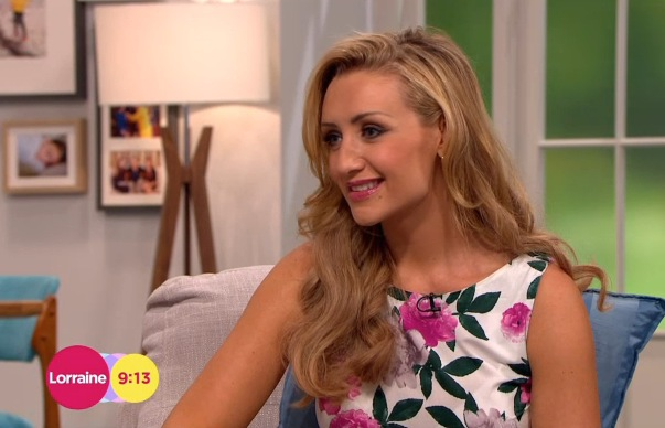 Catherine Tyldesley appeared on Lorraine, ITV, Southbank, London 30 July
