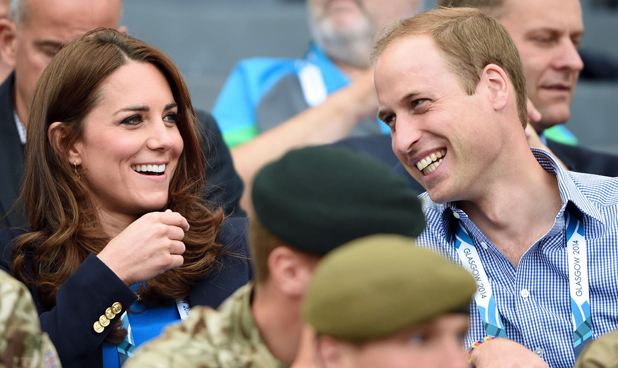 Prince William and Catherine Duchess of Cambridge watching the athletics at Hampden Park, 20th Commonwealth Games, Glasgow, Scotland, Britain - 29 Jul 2014