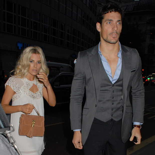 Mollie King and David Gandy, at the Tunnel of Love fundraiser in aid of British Heart Foundation's Mending Broken Hearts appeal held at Victoria House. London, England - 17.05.11