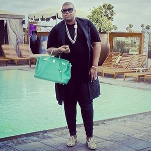 EJ Johnson and his Hermes handbag, Instagram 26 April