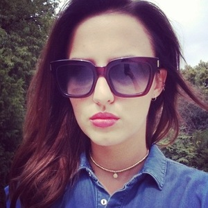Lucy Watson and her Saint Laurent sunglasses, Instagram 1 August