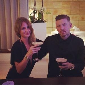 Millie Mackintosh and Professor Green cocktails before fashion designer Riccardo Tisci's birthday party, Ibiza 1 August