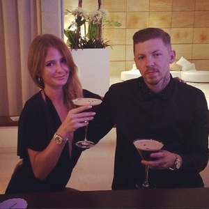 Millie Mackintosh and Professor Green cocktails before fashion designer Riccardo Tisci's birthday party, Ibiza 1 August