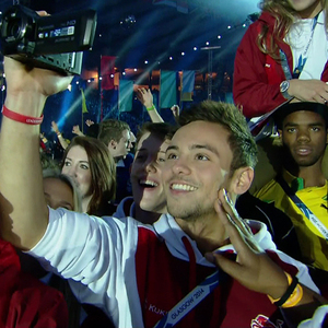 Tom Daley as Hampden Park plays host to the Glasgow 2014 Commonwealth Games Closing Ceremony, 2014