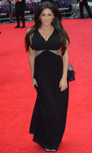 Casey Batchelor attends Expendables 3 premiere in London's Leicester Square - 4 August 2014