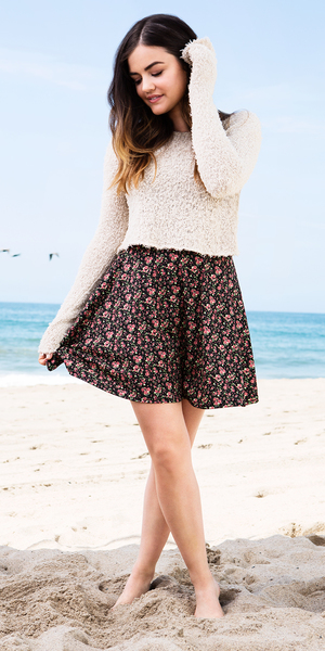 Lucy Hale models her new clothing collection for Hollister - 6 August 2014