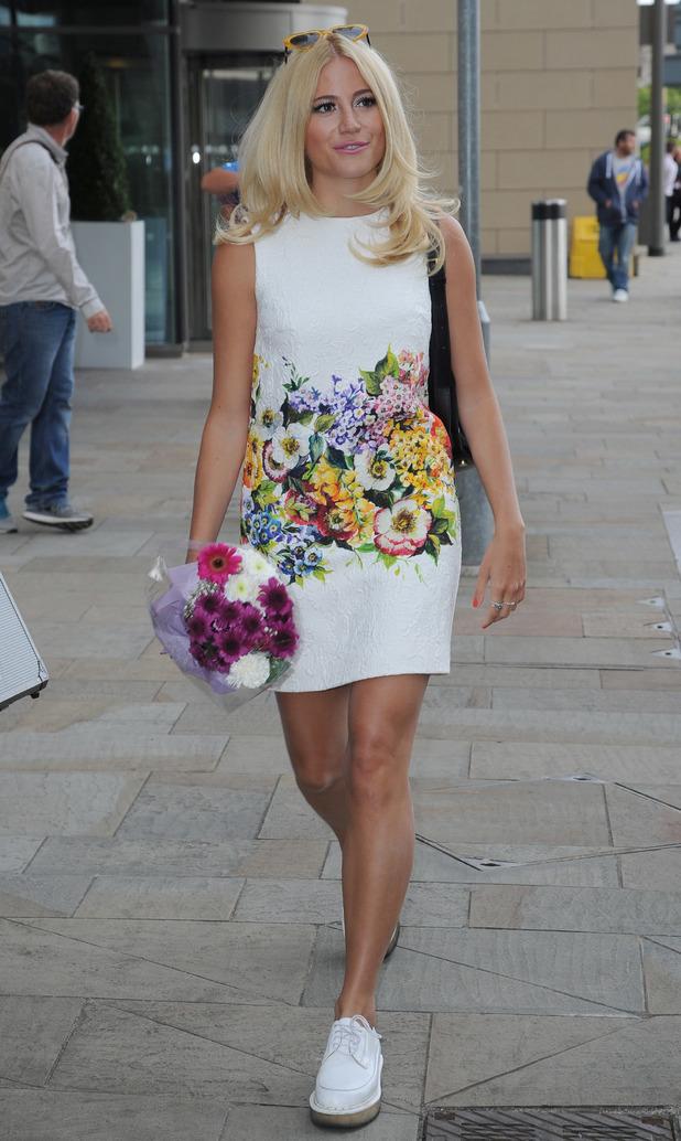 Pixie Lott outside BBC Breakfast studios, London 5 August
