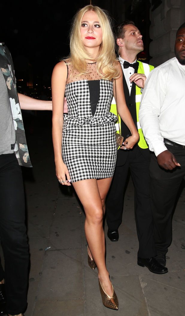 Pixie Lott makes her way to a private gig at Werewolf nightclub in London, England - 6 August 2014