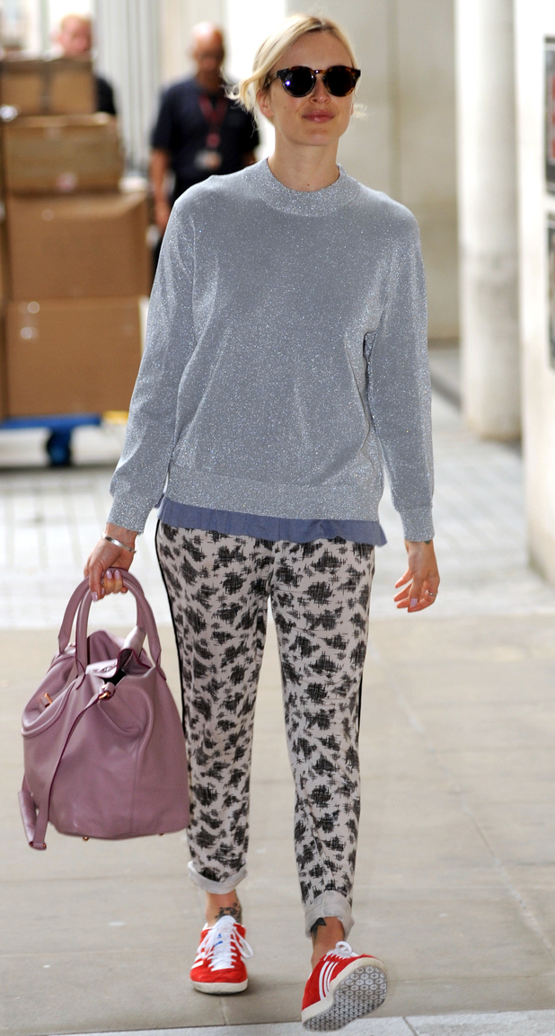 Fearne Cotton on way to Radio 1, 08/08/2014