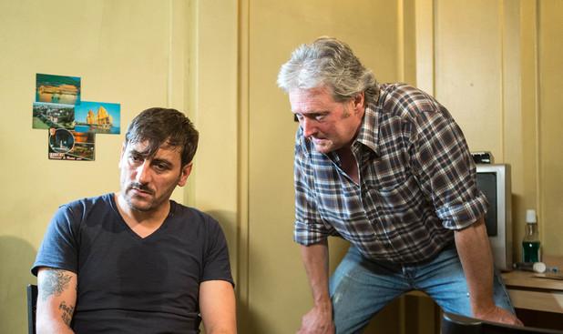 Corrie, Jim talks to Peter, Mon 11 Aug