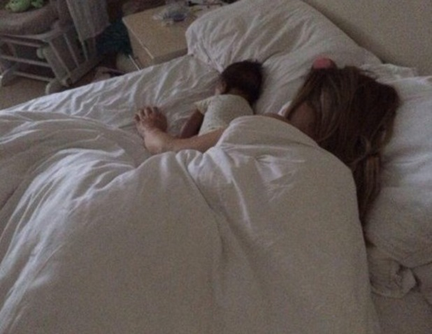 Katie Piper share photo of herself and daughter Belle in bed, Twitter 7 August