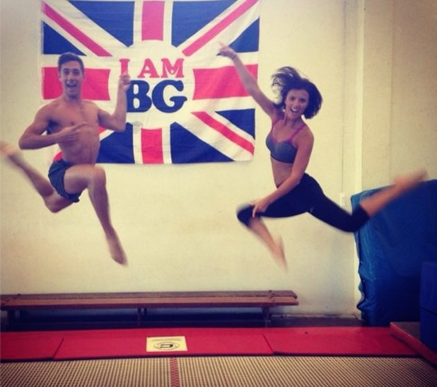 Lucy Mecklenburgh trampolining tranining for Tumble, Instagram 7 August