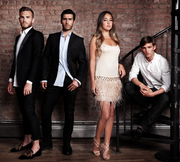 Made in Chelsea NYC - new cast members: Left to Right: Carson, Alik, Billie and Jules