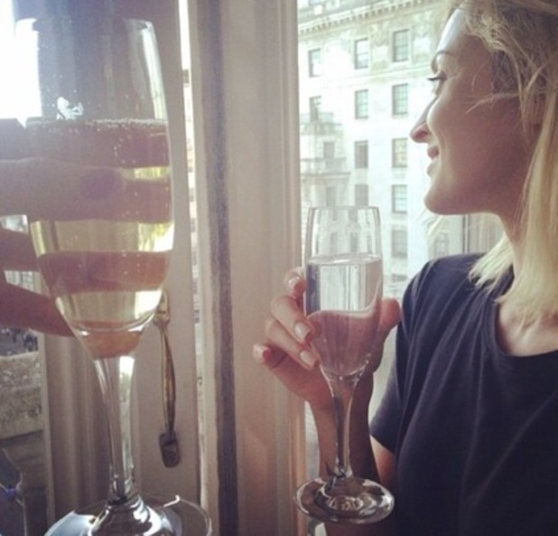 Fearne Cotton on the night before her wedding, London, Instagram 8 August