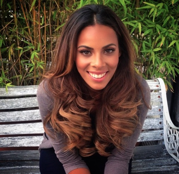 Rochelle Humes shows off new Easilocks extensions with new slightly lightly colour, 4 August 2014