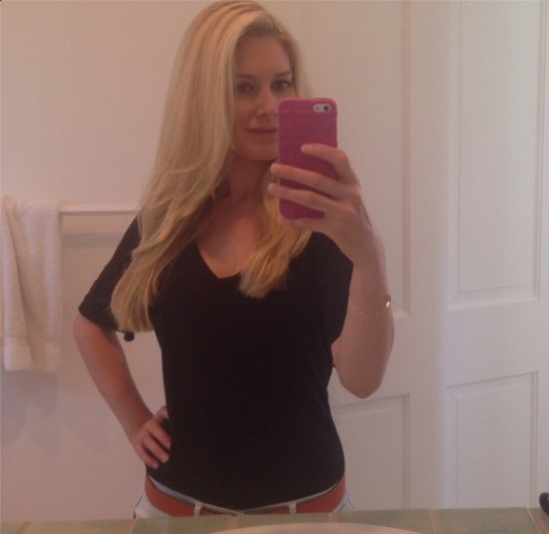 Heidi Montag poses for a selfie after reuniting with Spencer Pratt following her trip to Colorado - 7 August 2014