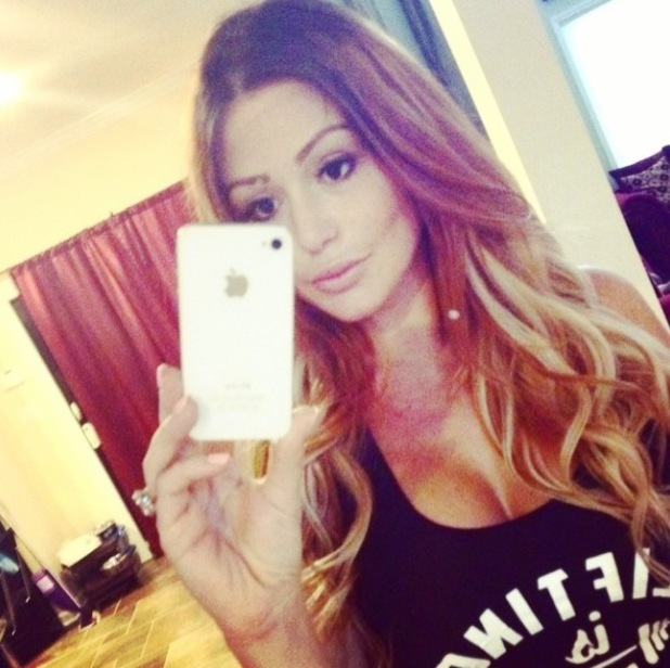 Jersey Shore star JWoww shows off her new hair extensions (5 August).