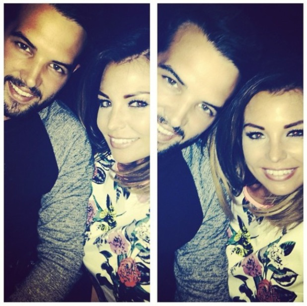 Jess Wright takes a selfie with BF Ricky Rayment, 9.8.14