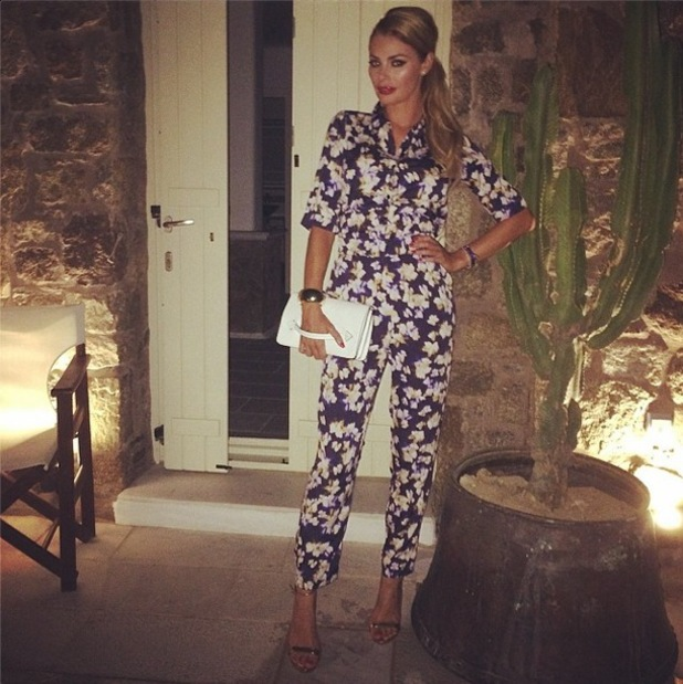 TOWIE's Chloe Sims wears a £13 Primark jumpsuit while on holiday - 6 August 2014