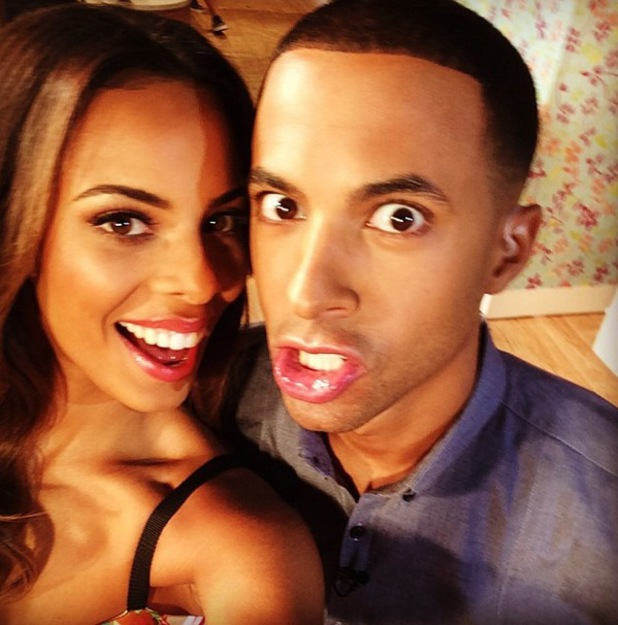 Rochelle and Marvin take a pre-show selfie, This Morning, ITV, Instagram 8 August