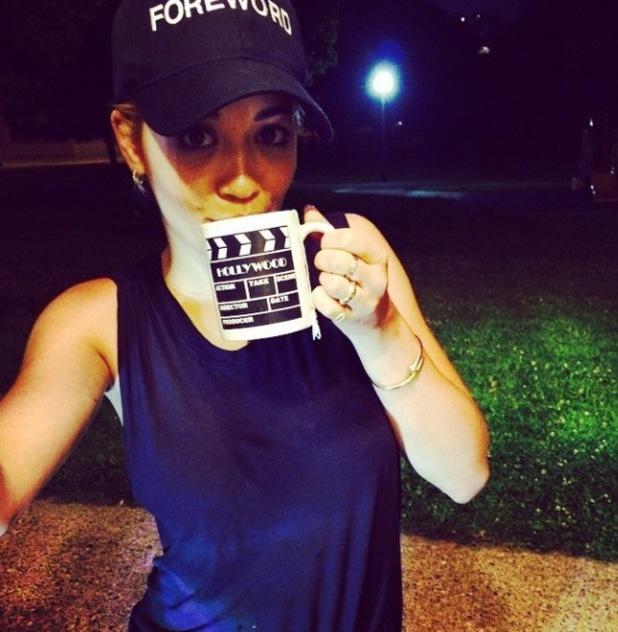 Rita Ora teases secret new movie project (8 August).