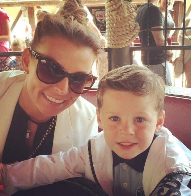 Coleen and Kai Rooney visit Alton Towers together - 3 August 2014