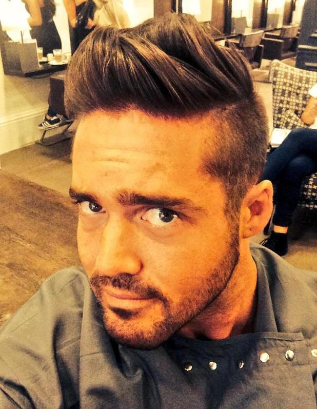 Made In Chelsea's Spencer Matthews gets new haircut - 5 August 2014.