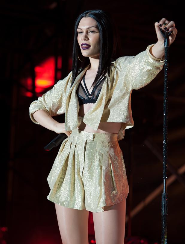 Jessie J performing live on stage at Sandown Park Racecourse 08/07/2014 Esher, United Kingdom