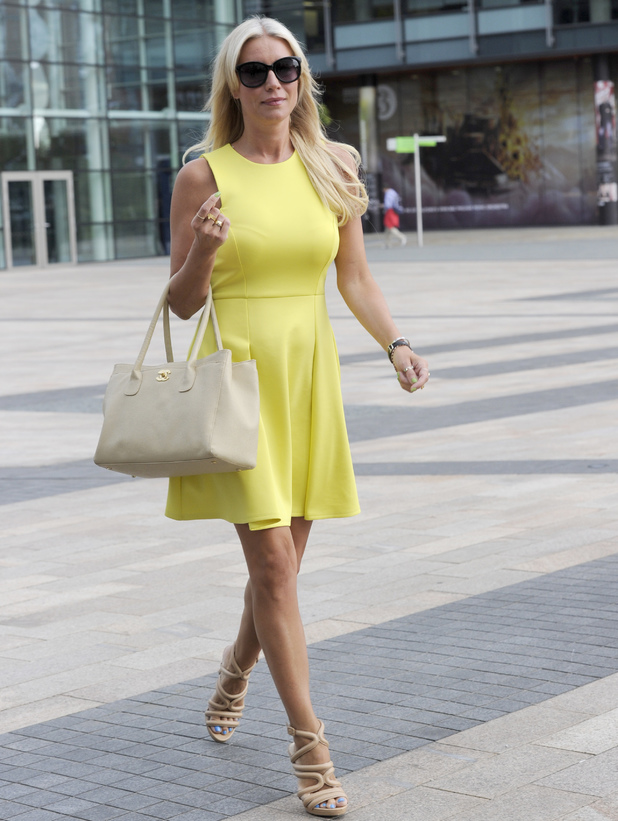 Denise Van Outen outside BBC Breakfast Studios, Salford, Manchester 7 August