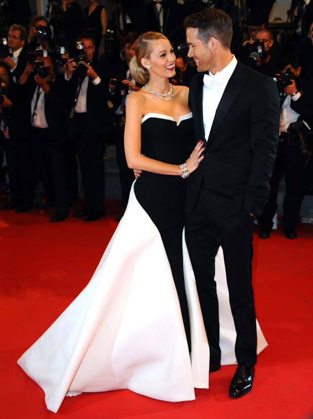 Blake Lively and Ryan Reynolds attend 'Captives' Premiere at the 67th Annual Cannes Film Festival on 16 May 2014 in Cannes, France. (Photo by Anthony Harvey/FilmMagic)