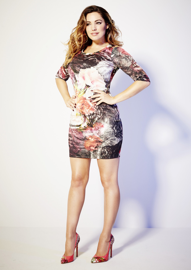 Kelly Brook models her new clothing collection for Simply Be, available September 2014