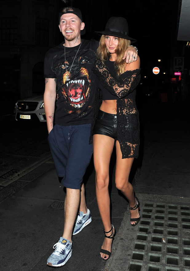 Millie Mackintosh and Professor Green at the release party for her new album 'Pixie Lott' at The Langham Hotel 08/05/2014.