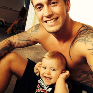 TOWIE's Dan Osborne and his beautiful baby Teddy crawling, 7 August 2014