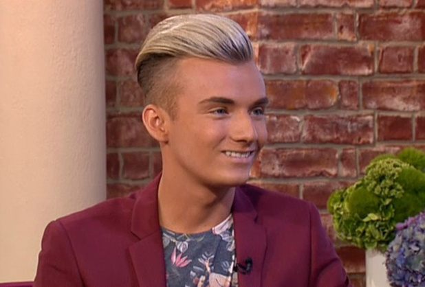 Harry Derbidge appearing on ITV's This Morning, 4 August 2014