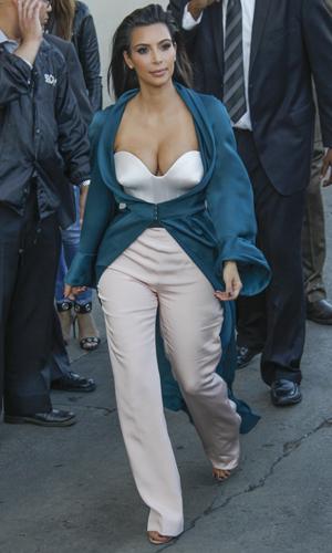 Kim Kardashian films Jimmy Kimmel Live in Los Angeles - 4 August 2014