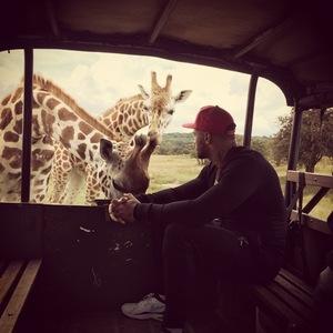 Kelly Brook and David McIntosh go on Safari, Kent, UK 15 August