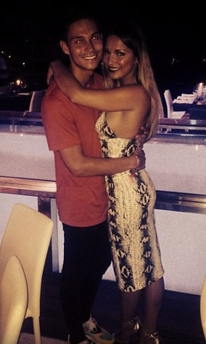 Joey Essex and Sam Faiers pose for picture after romantic date in Ibiza (9 August).