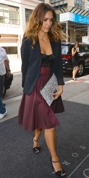 Jessica Alba arrives for appearance on 106 & Park, New York 13 August