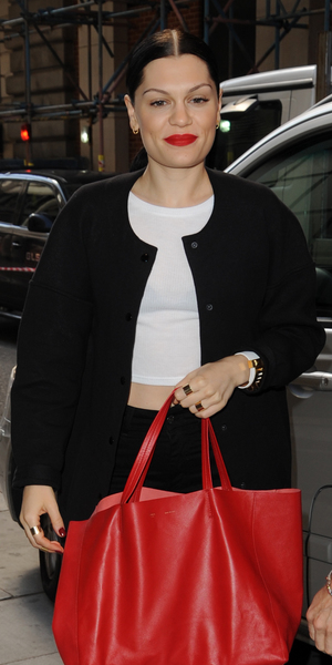 Jessie J arrives outside Kiss FM, London 13 August