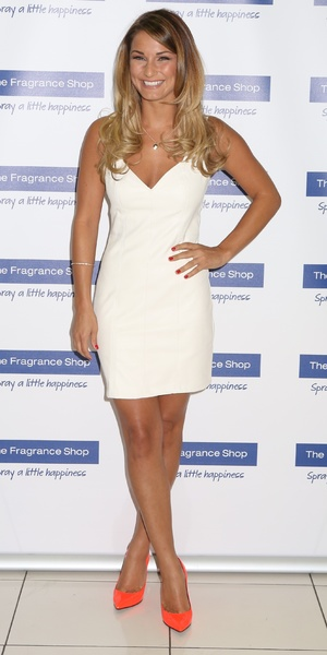 Samantha Faiers promotes her new fragrance 'La Bella' at The Fragrance Shop in Ashford, Kent, 16 August 2014