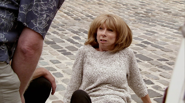 Corrie, Michael runs Gail over, Wed 13 Aug