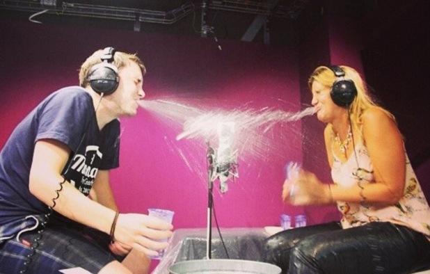 Cheska Hull appears on Radio 1's Innuendo Bingo with Chris Stark, BBC Studios, London 12 August