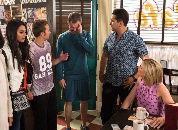 Corrie, Nick fakes a seizure, Fri 15 Aug