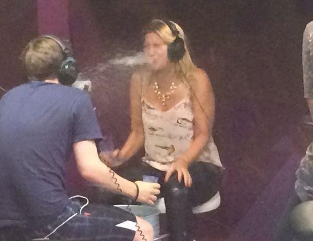 Cheska Hull on Radio 1 from her Twitter account, 12/8/14